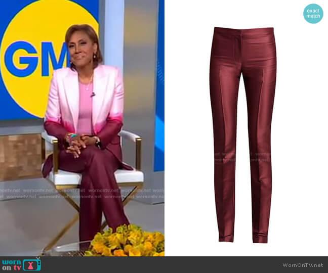 Dip Dye Wool & Silk Cigarette Trouser by Alexander Mcqueen worn by Robin Roberts  on Good Morning America