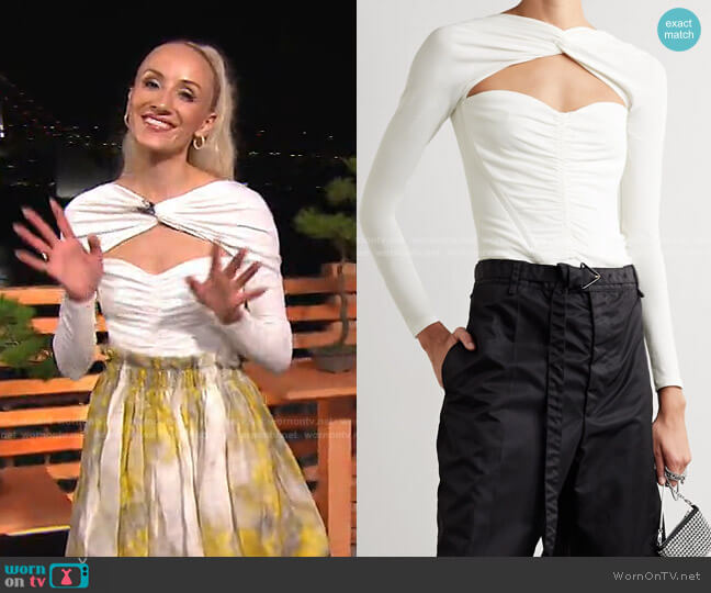 Ruched Cutout bodysuit by Alexander Wang worn by Nastia Liukin on Today
