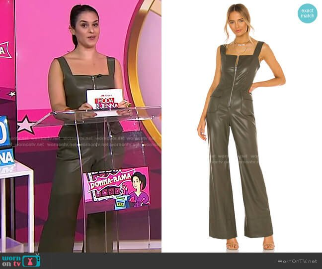 Reverie Vegan Leather Jumpsuit by Alexis worn by Donna Farizan  on Today
