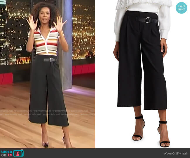 Adelina Pants by Alice + Olivia worn by Zuri Hall  on Access Hollywood