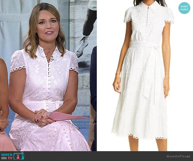 Vannessa Midi Dress by Alice + Olivia worn by Savannah Guthrie  on Today