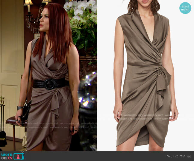All Saints Cancity Dress worn by Sally Spectra (Courtney Hope) on The Young & the Restless