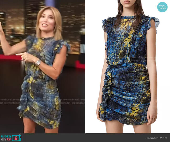 Hali Mirus Mini Dress by All Saints worn by Kit Hoover  on Access Hollywood
