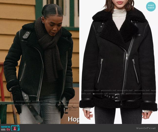 All Saints Rei Jacket worn by Amy AJ Johnson (Nia Holloway) on The Republic of Sarah