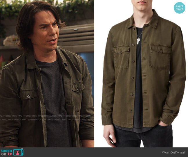 All Saints Spotter Shirt Jacket worn by Spencer Shay (Jerry Trainor) on iCarly
