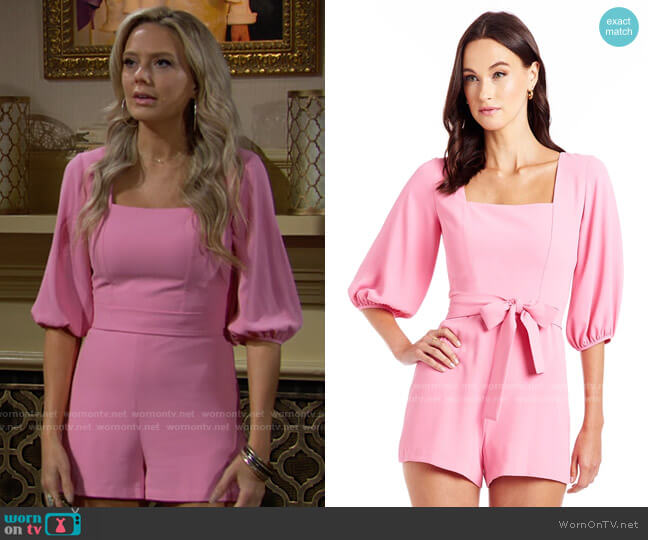 Amanda Uprichard Walsh Romper worn by Abby Newman (Melissa Ordway) on The Young & the Restless