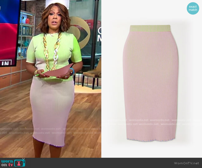 Andersson Bell Harmony Skirt worn by Gayle King  on CBS Mornings