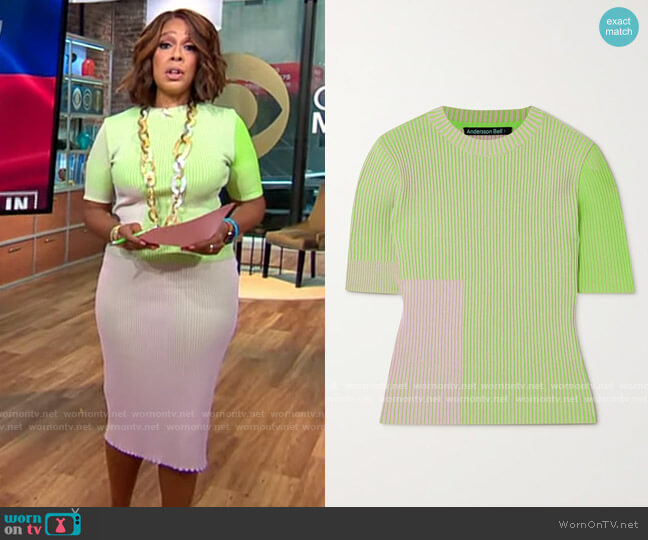 Andersson Bell Janis Top worn by Gayle King  on CBS Mornings