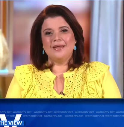 Ana's yellow eyelet top on The View