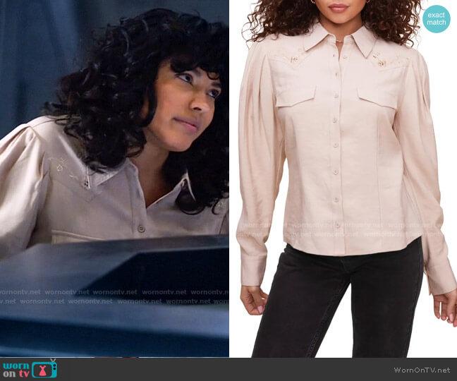 ASTR Embroidered Western Button-Up Shirt worn by Esperanza Cruz (Lisseth Chavez) on Legends of Tomorrow