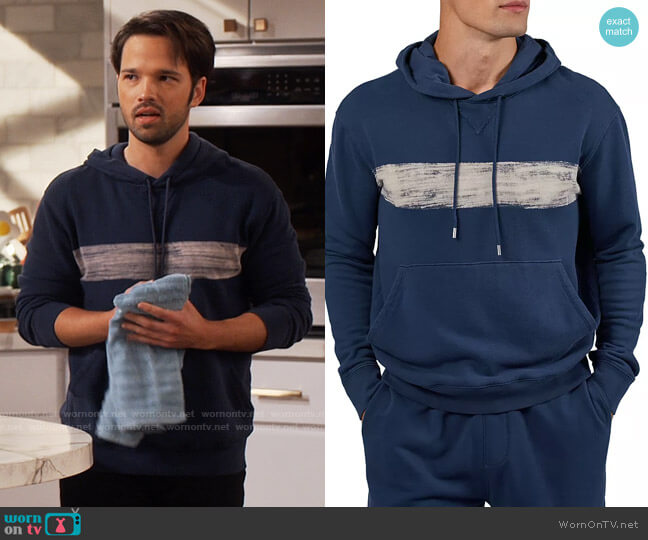 ATM Anthony Thomas Melillo French Terry Pullover Hoodie worn by Freddie Benson (Nathan Kress) on iCarly