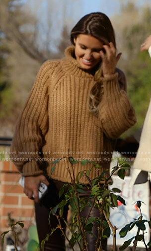 Audrina's tan turtleneck sweater on The Hills New Beginnings