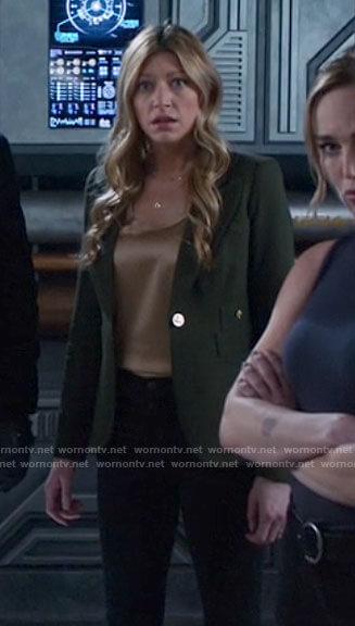 Ava's green blazer on Legends of Tomorrow