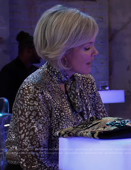 Ava's gold leopard blouse on General Hospital