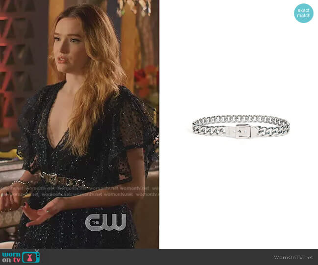 Marcel Belt in Silver by B-Low The Belt worn by Kirby Anders (Maddison Brown) on Dynasty