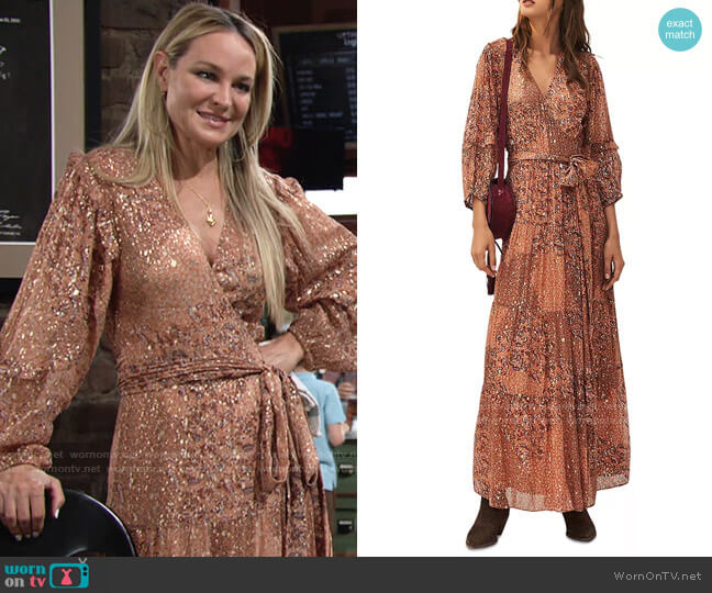 ba&sh Oriane Dress worn by Sharon Collins (Sharon Case) on The Young & the Restless