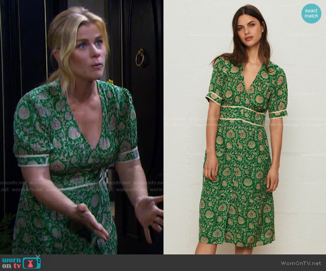 Plume Dress by Ba&Sh worn by Sami Brady (Alison Sweeney) on Days of our Lives