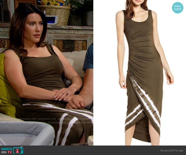 Bailey 44 Pitcher Plant Tank Dress worn by Steffy Forrester (Jacqueline MacInnes Wood) on The Bold & the Beautiful