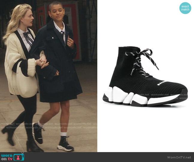 Speed 2.0 Lace-Up Sneakers by Balenciaga worn by Julien Calloway (Jordan Alexander) on Gossip Girl