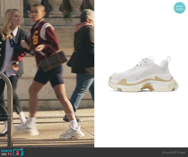 Triple S Sneakers by Balenciaga worn by Julien Calloway (Jordan Alexander) on Gossip Girl