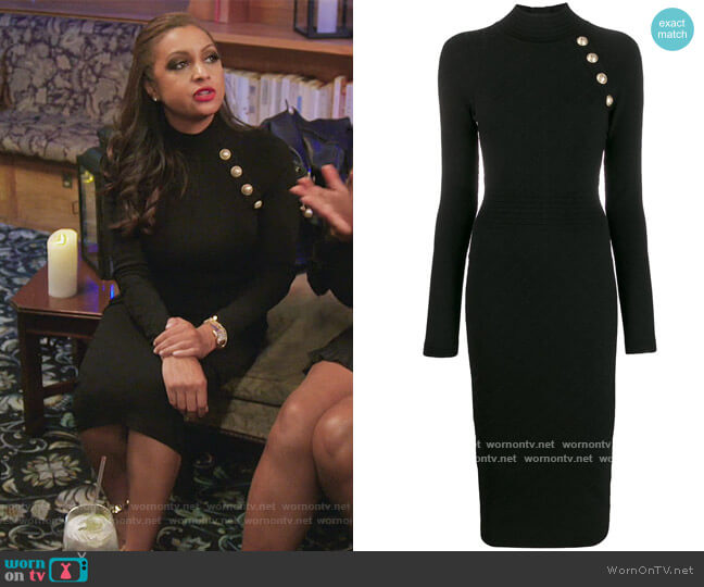 Knitted Midi Dress by Balmain worn by Eboni K. Williams (Ebony K. Williams) on The Real Housewives of New York City