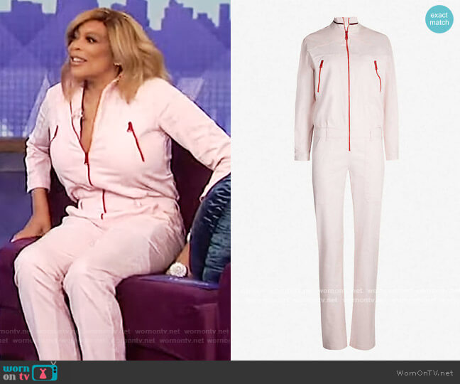 Cesar stretch-denim jumpsuit by Ba&sh worn by Wendy Williams  on The Wendy Williams Show