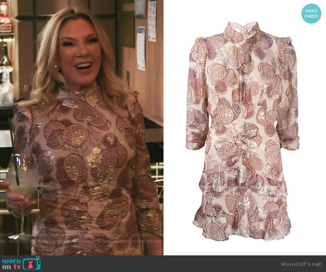 Metallic Effect Hydra Dress by Ba&sh worn by Ramona Singer  on The Real Housewives of New York City