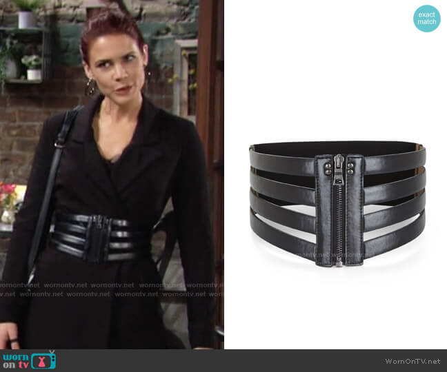 Bcbgmaxazria Cage Zip Waist Belt worn by Sally Spectra (Courtney Hope) on The Young & the Restless