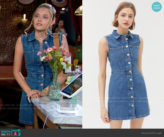 BDG Mid Vintage Western Mini Dress worn by Faith Newman (Reylynn Caster) on The Young & the Restless