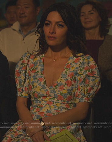 Billie's floral print puff sleeve dress on Sex/Life