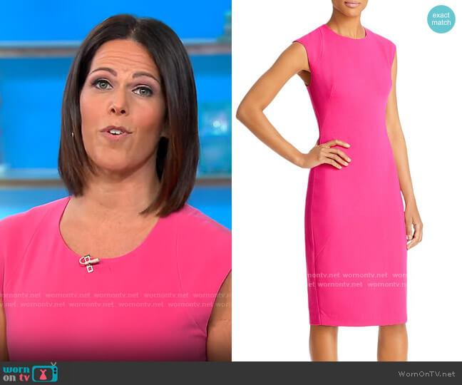 Black Halo Samoa Sheath Dress worn by Dana Jacobson  on CBS Mornings