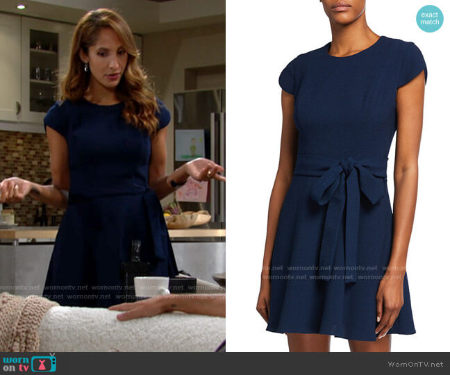 Black Halo Skylar Dress worn by Lily Winters (Christel Khalil) on The Young & the Restless