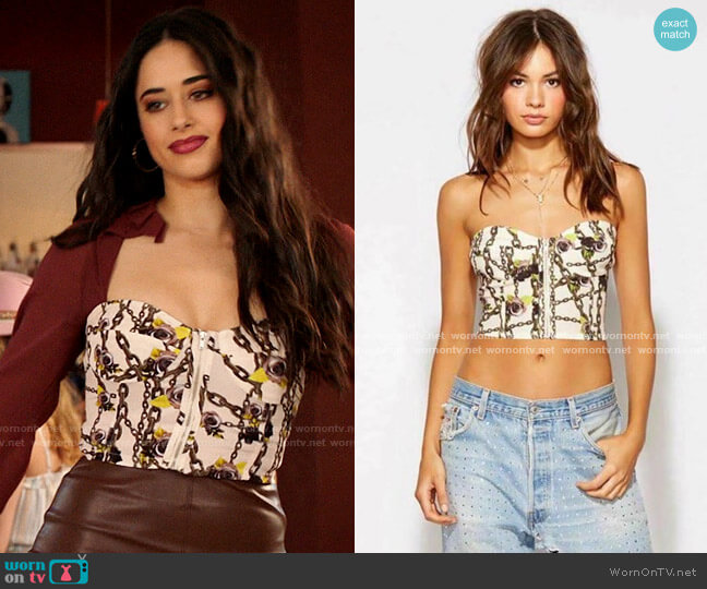 Blue Life Alix Corset worn by Liz Ortecho (Jeanine Mason) on Roswell New Mexico