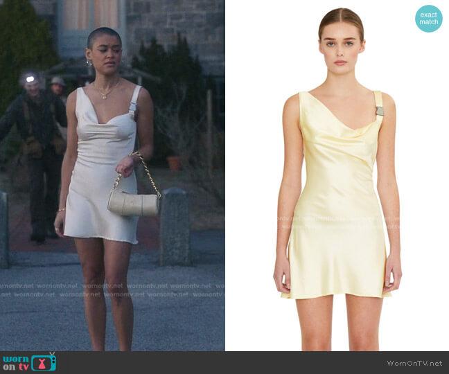 Buckle Closure Dress by Guizio worn by Julien Calloway (Jordan Alexander) on Gossip Girl
