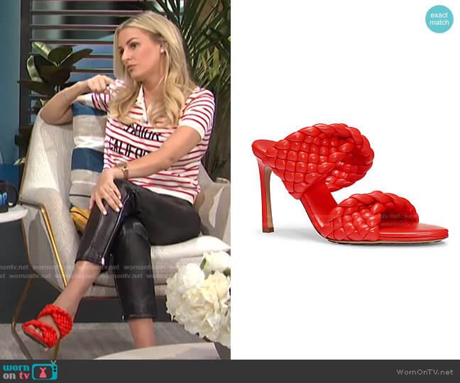 Curve Sandals by Bottega Veneta worn by Morgan Stewart  on E! News