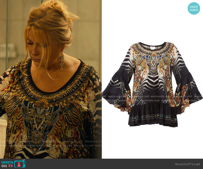 Camilla Lost Paradise Dress worn by Tanya McQuoid (Jennifer Coolidge) on The White Lotus