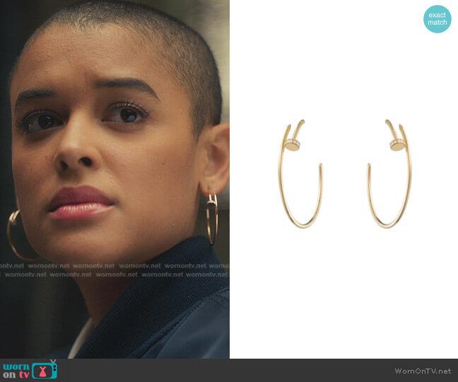 Juste Un Clou Earrings by Cartier worn by Julien Calloway (Jordan Alexander) on Gossip Girl