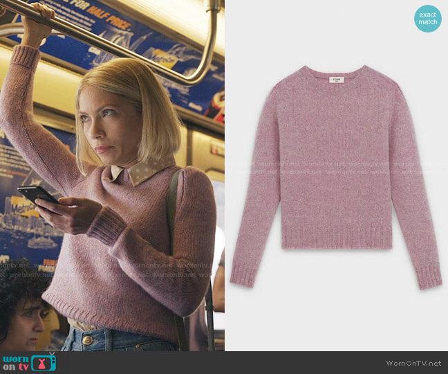Crew Neck Sweater in Shetland Wool by Celine worn by Kate Keller (Tavi Gevinson) on Gossip Girl