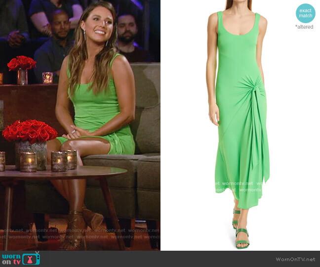 Vera Tie-Wrap Sleeveless Midi Dress by Cinq a Sept worn by Katie Thurston  on The Bachelorette