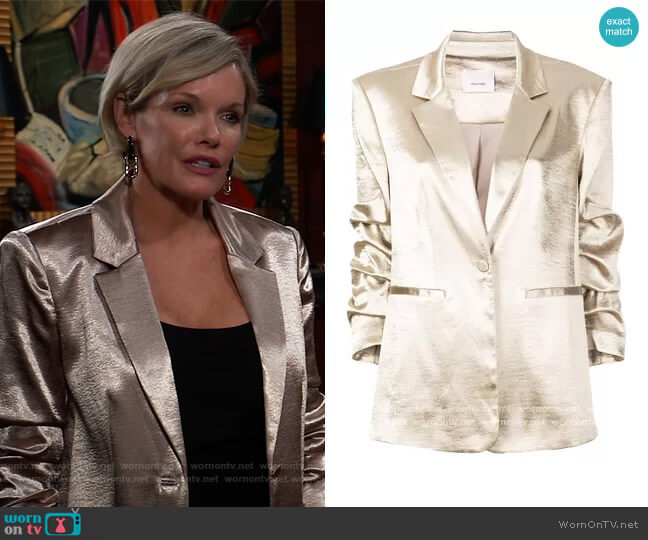 Kylie blazer by Cinq a Sept worn by Ava Jerome (Maura West) on General Hospital