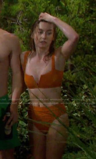 Claire's orange bikini on Days of our Lives