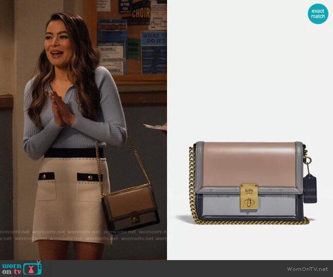 Coach Hutton Shoulder Bag worn by Carly Shay (Miranda Cosgrove) on iCarly