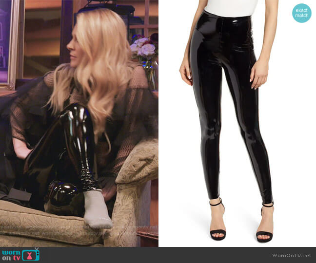Control Top Faux Patent Leather Leggings by Commando worn by Leah McSweeney  on The Real Housewives of New York City