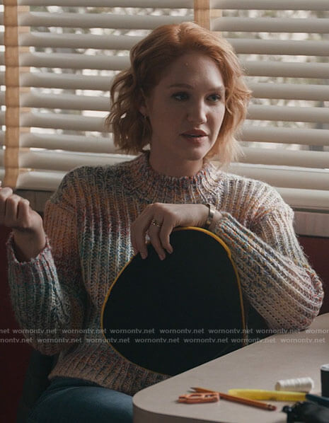 Corinne's ombre sweater on The Republic of Sarah