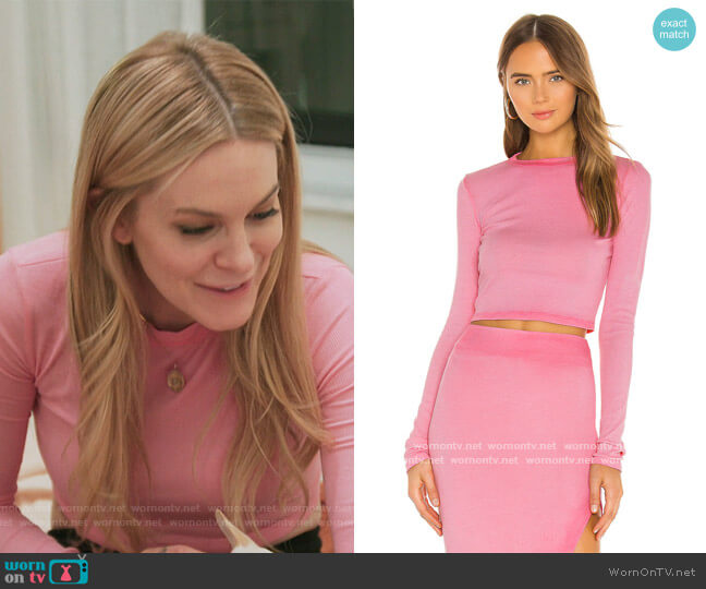 x REVOLVE Verona Crop Long Sleeve by Cotton Citizen worn by Leah McSweeney  on The Real Housewives of New York City