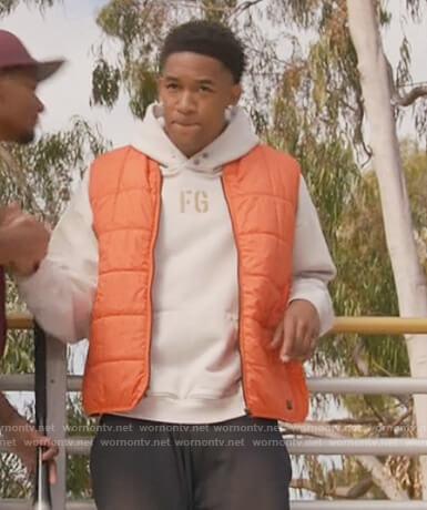 Damon's white FG hoodie on All American