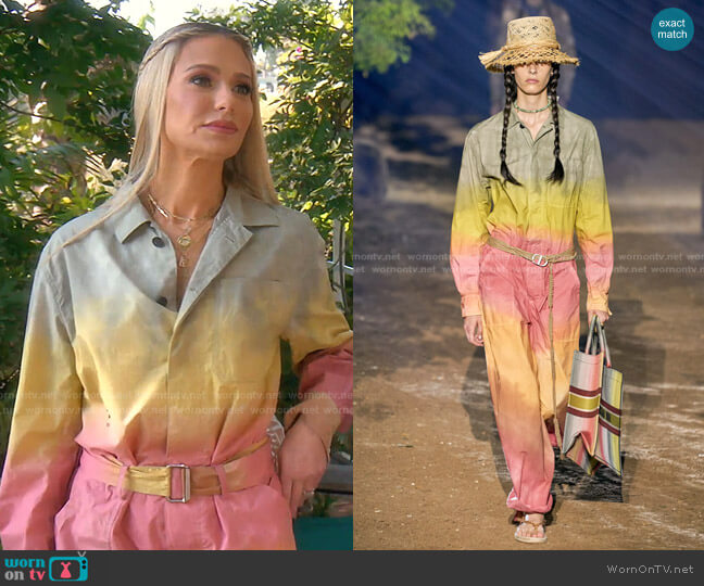 Spring Summer 2020 Collection by Dior worn by Dorit Kemsley  on The Real Housewives of Beverly Hills