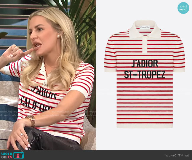 Dioriviera J Adior Saint Tropez Polo Shirt by Dior worn by Morgan Stewart  on E! News