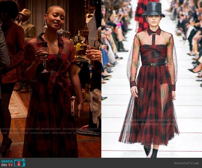 Dior Fall 2019 Dress worn by Ella McFair (Andrea Bordeaux) on Run the World