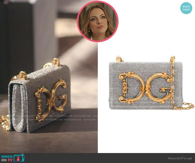 DG Girls Shoulder Bag by Dolce & Gabbana worn by Fallon Carrington (Elizabeth Gillies) on Dynasty